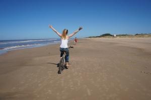 bici en la playa